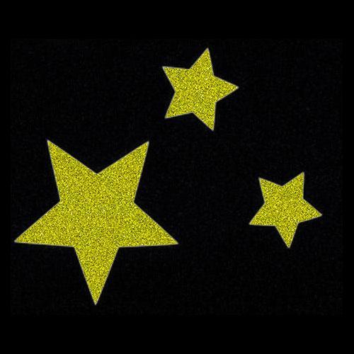 Pochoir trio d'étoiles