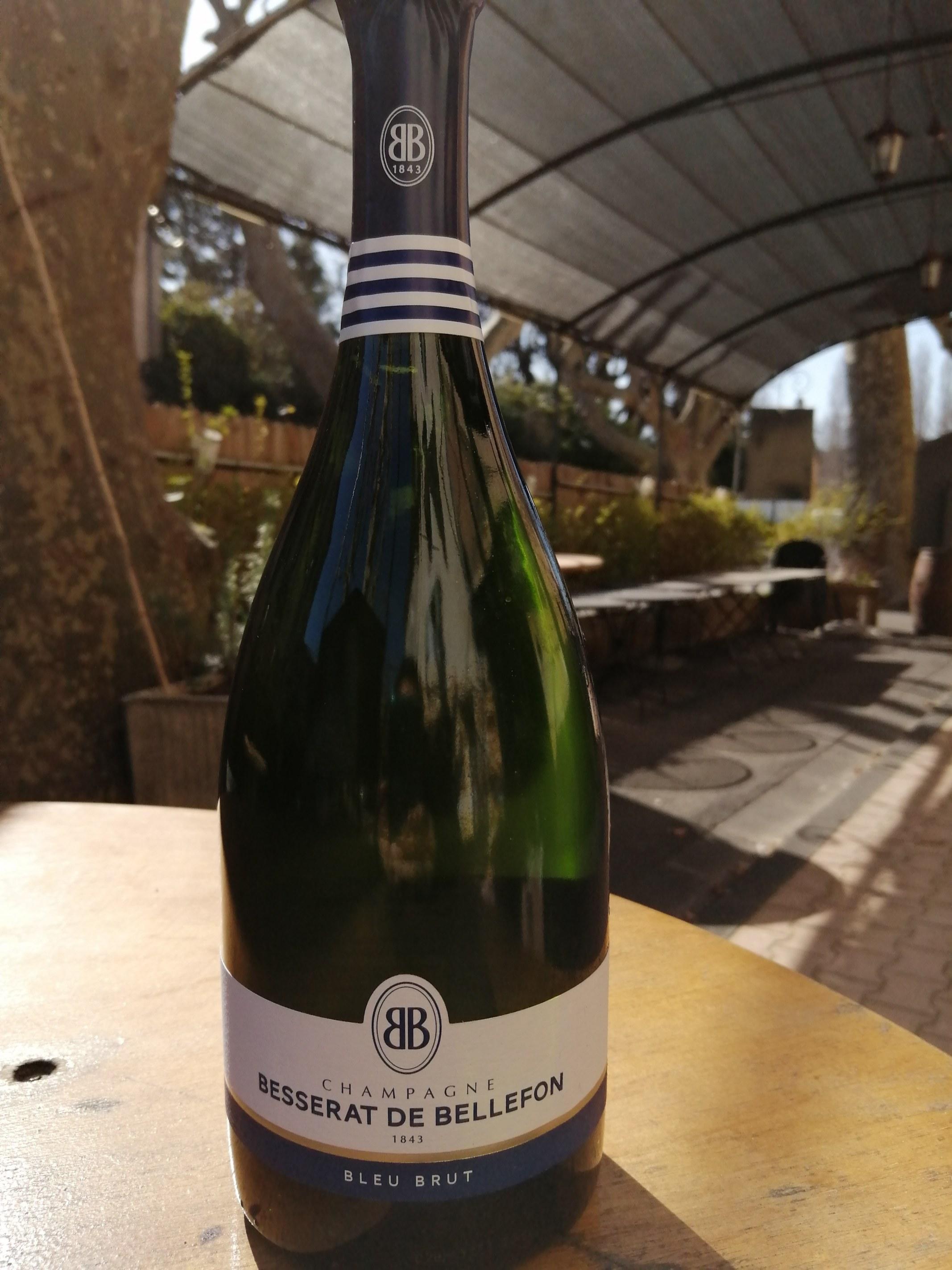 Champagne Besserat de Bellefon. Bleu Brut