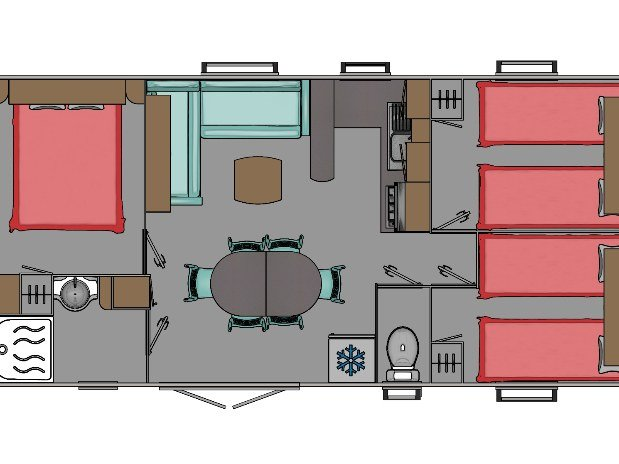 Plan Mobil-home 6/8 places