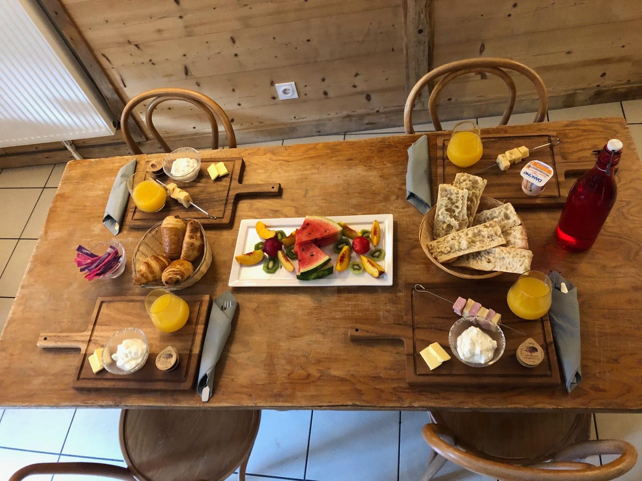 Petit déjeuner Auberge d+