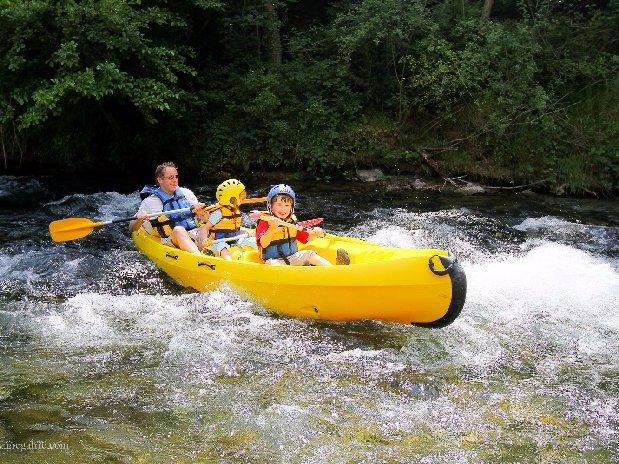 camping Le Clapas canoe trip