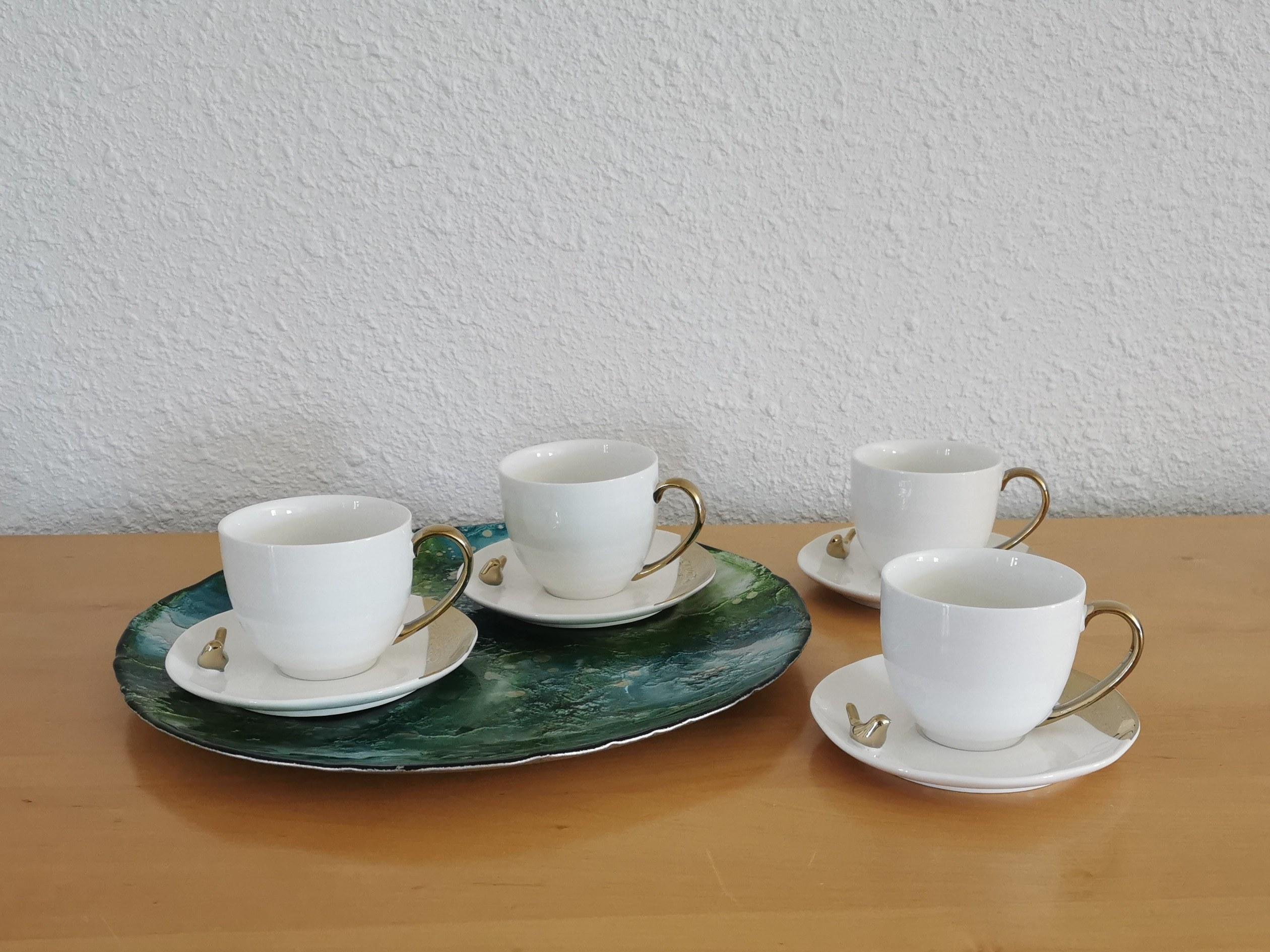 tasse à café blanche table passion