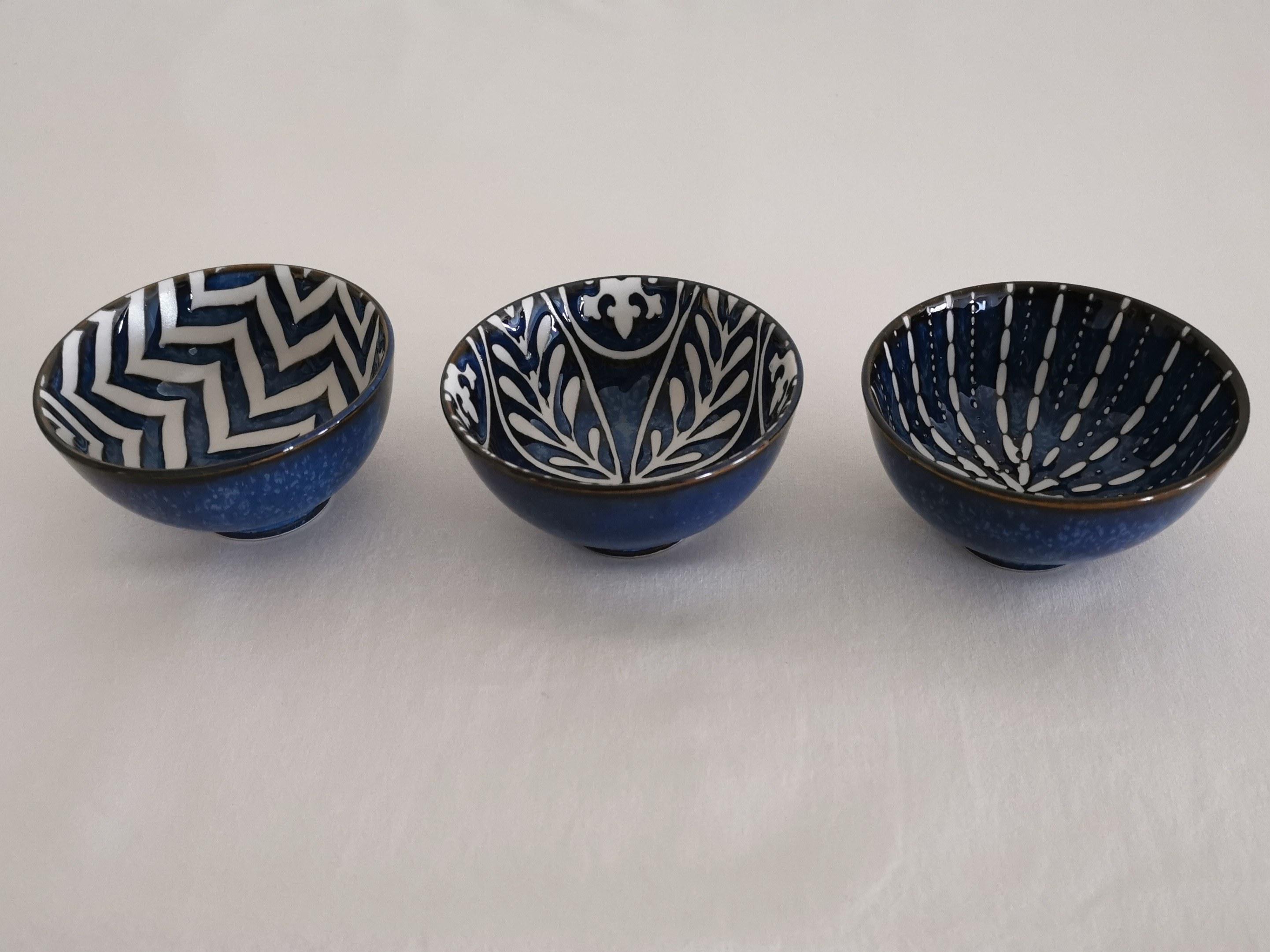 coupelle bleu apéritive table passion