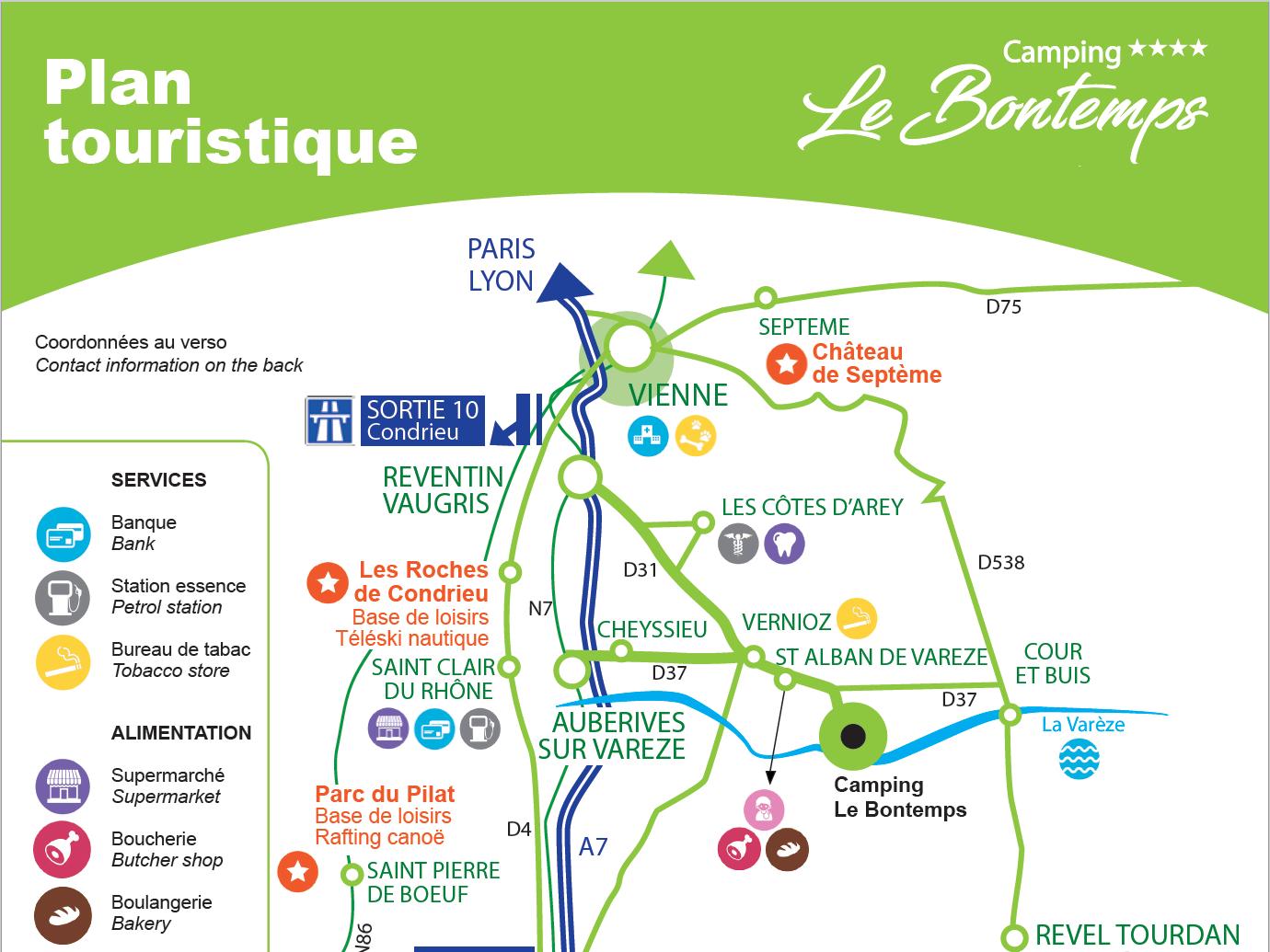 Plan touristique