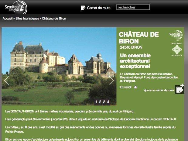 chateau de biron - lot et garonne - dordogne - site touristiques - a visiter - perigord - chambres d'hôtes  du moulin de la bique