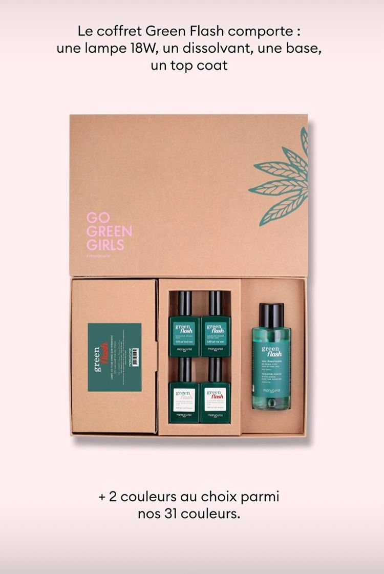 coffret vernis semi permanent Green Flash.