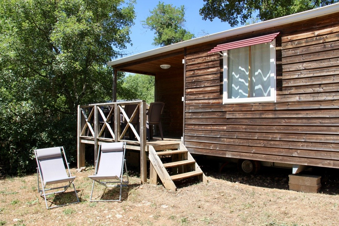 mobil-home camping rocamadour Lot piscine chauffée padirac