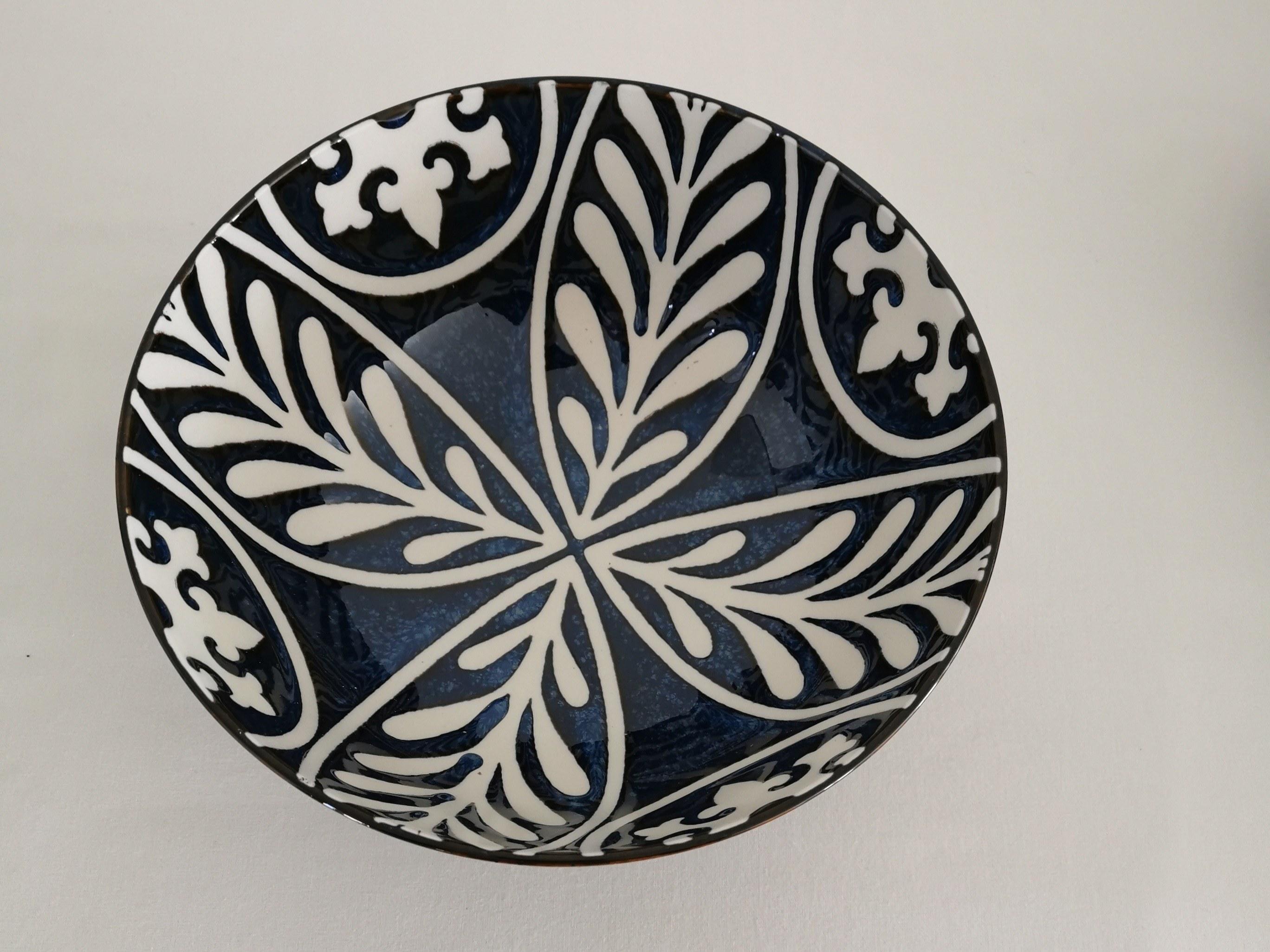 saladier céramique bleu makaha couleurs d'Hélène