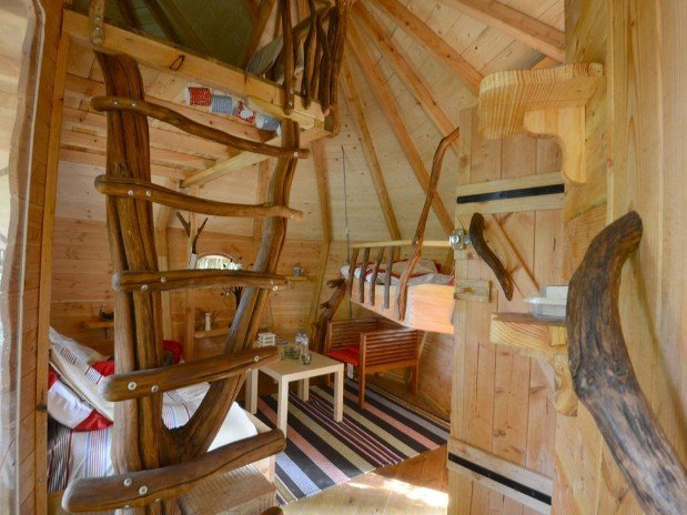 Cabane de la Renardière intérieur