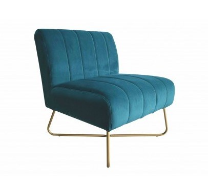 fauteuil alfred velours canard