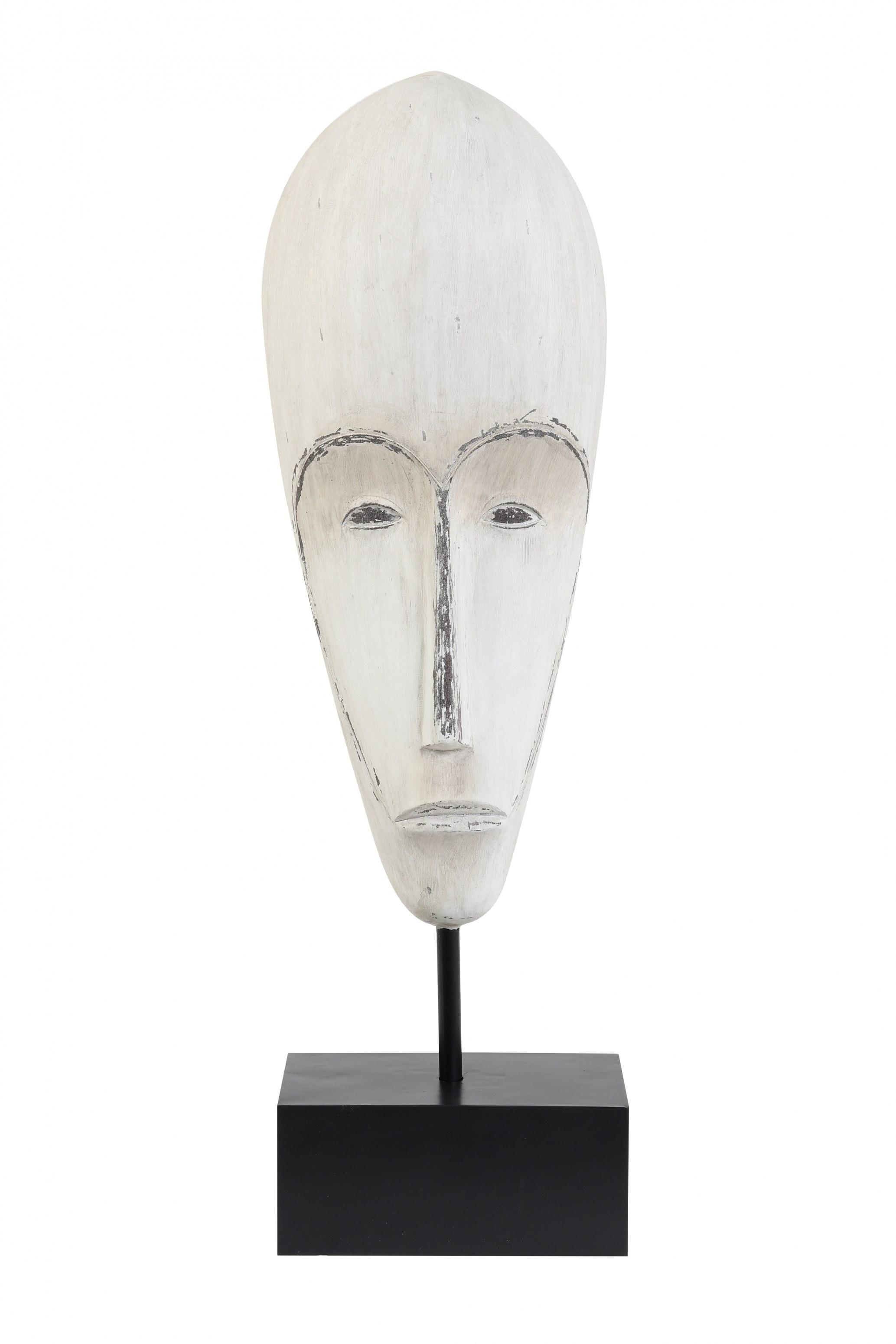 masque tête blanche