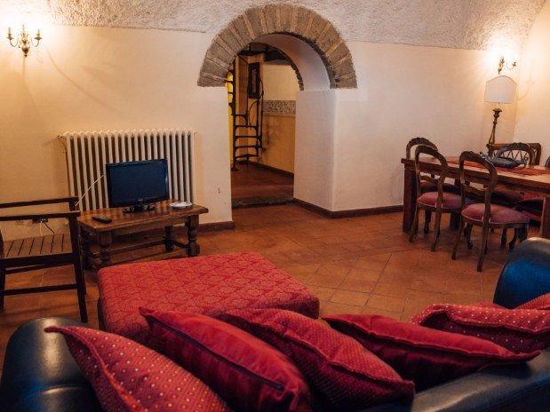 Salotto Appartamento Rifugio di Ercole Castello Santa Margherita Cori