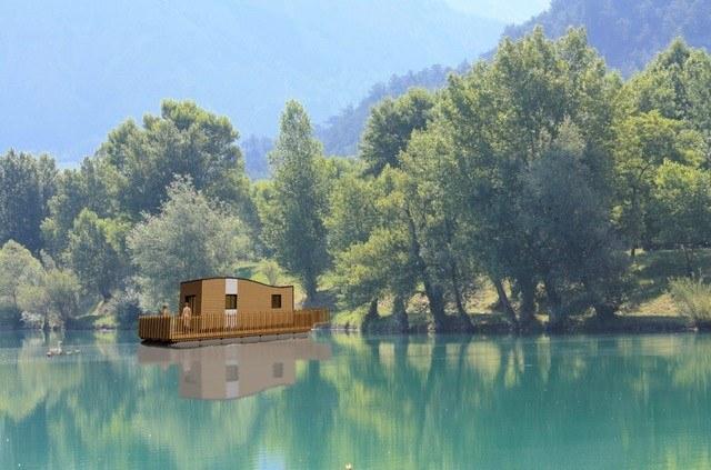 ilot bleu sur le lac camping vercors drome piscine chauffée lac