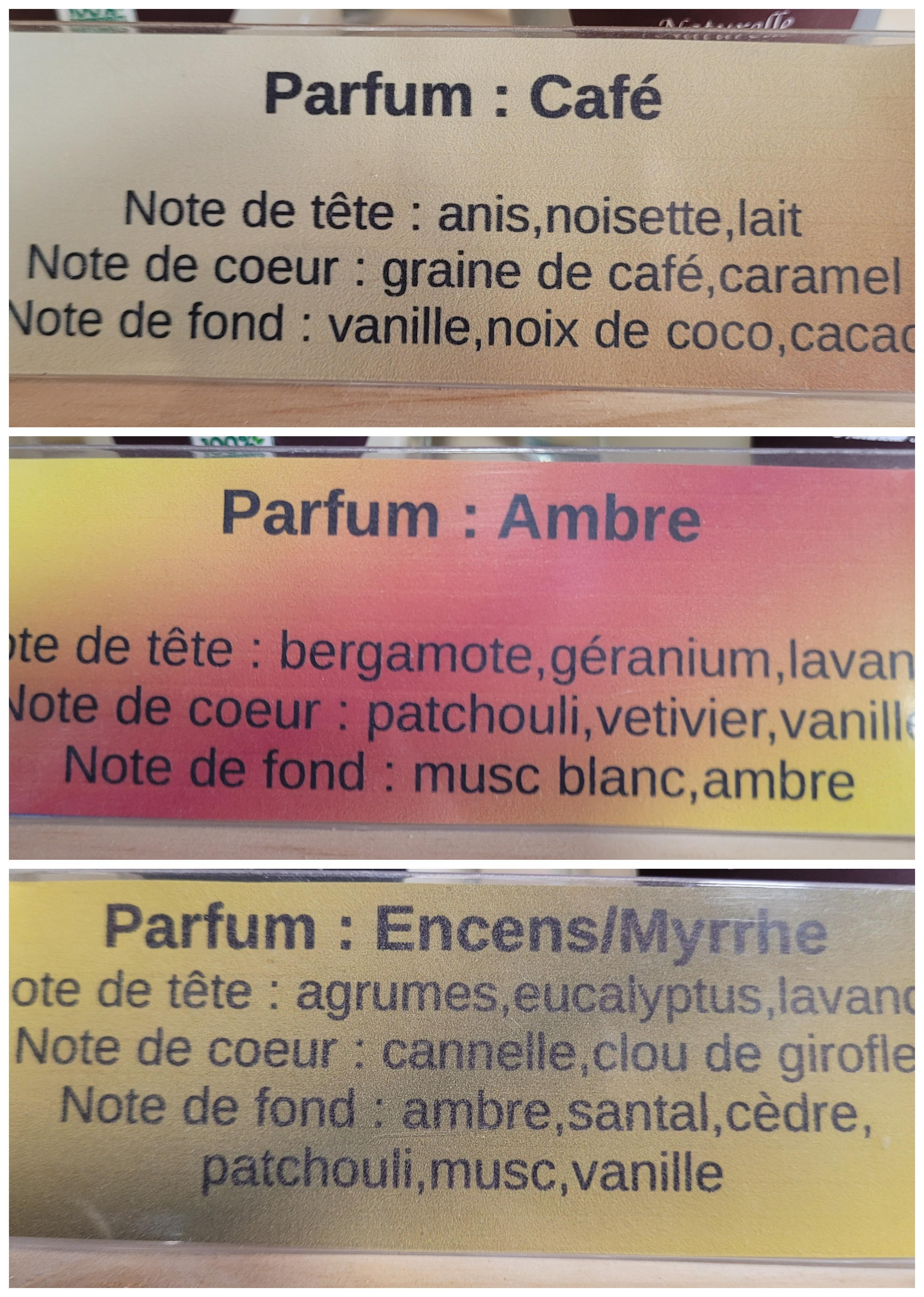 pyramide olfactive bougie artisanale