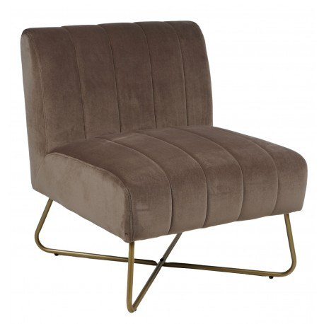 fauteuil alfred velours weimar