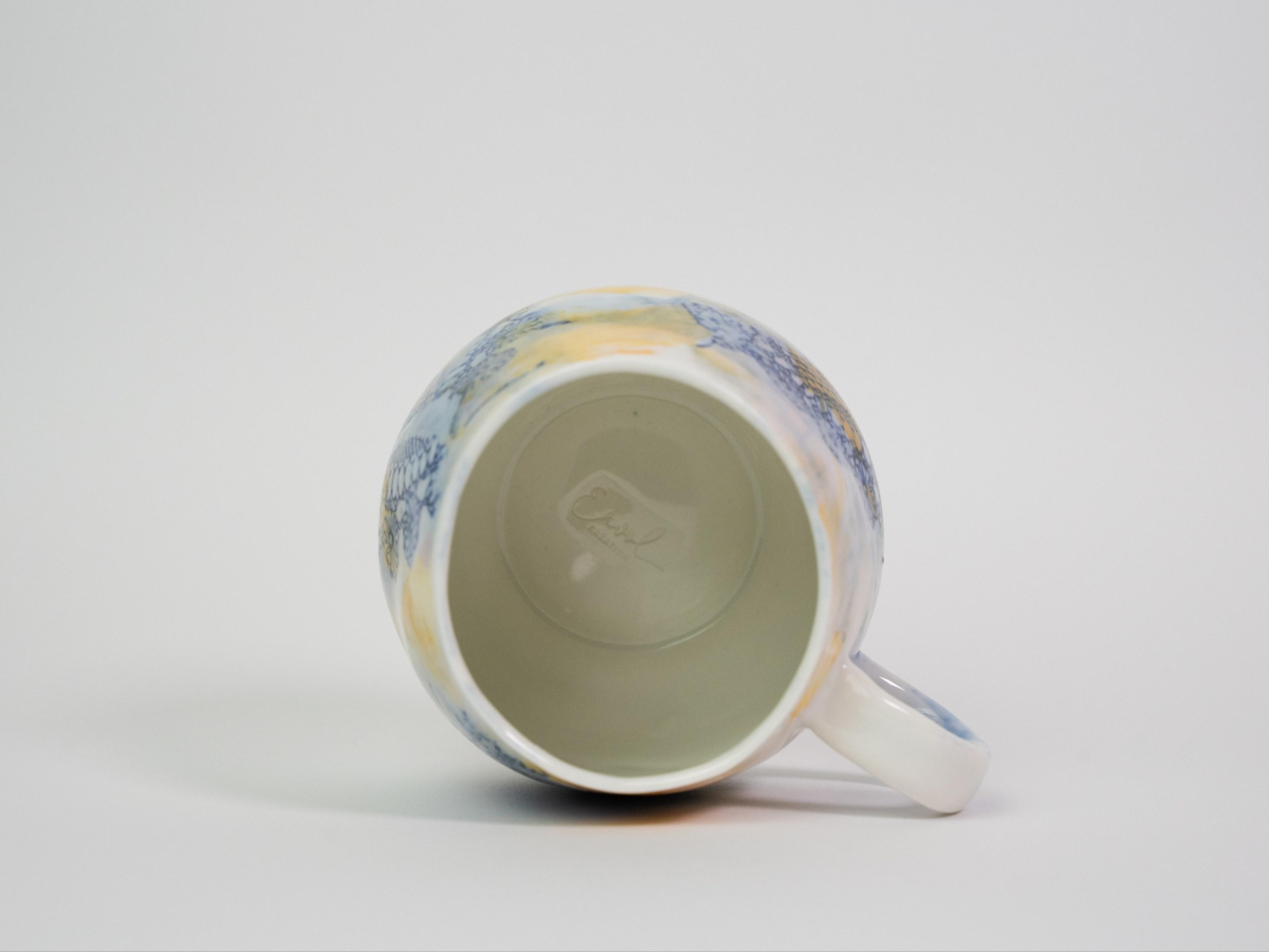 Collection Burano- Tasse anse dentelle colorée- Couleur Jaune Rose B (2)