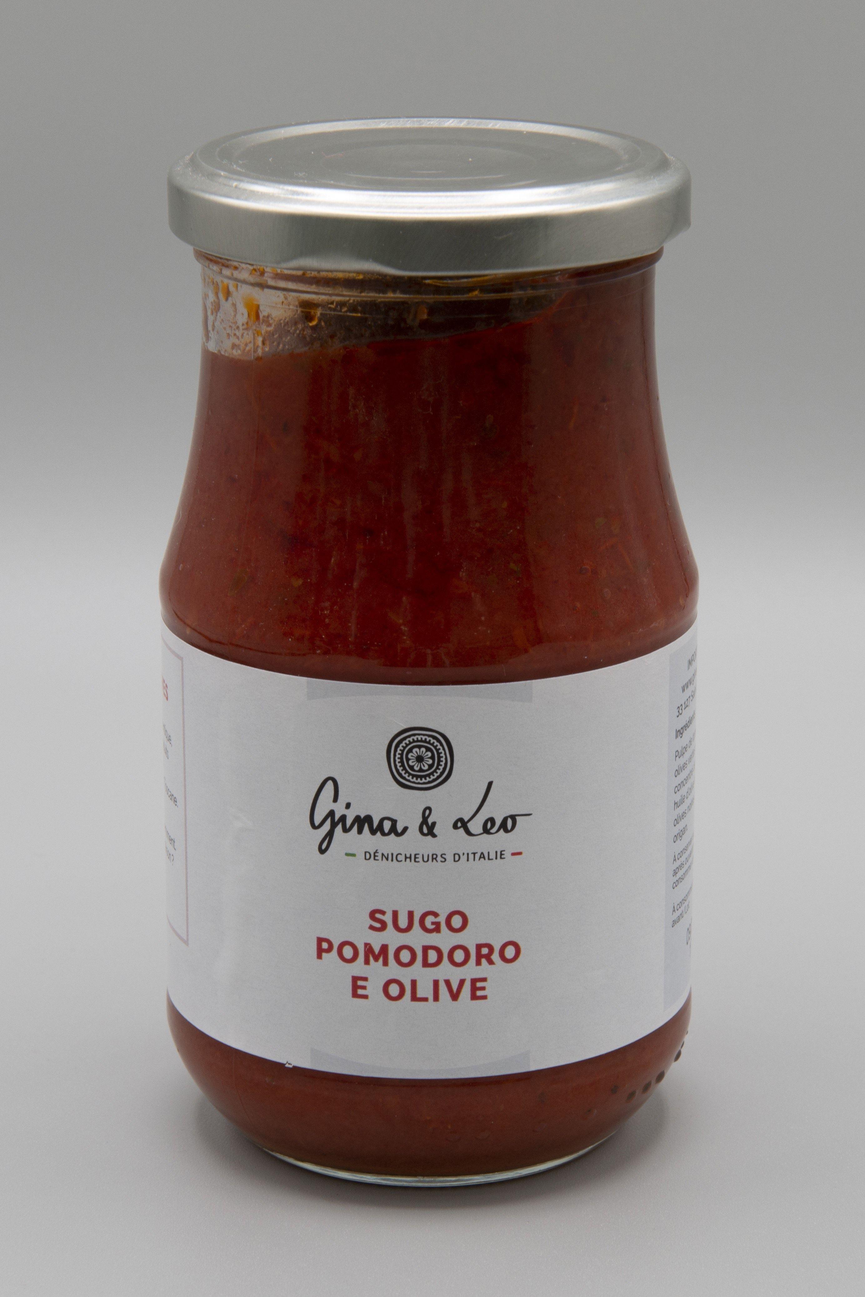 achat-sauce-Gina-leo-sugo-pomodoro-olive-pot-epicerie-nice