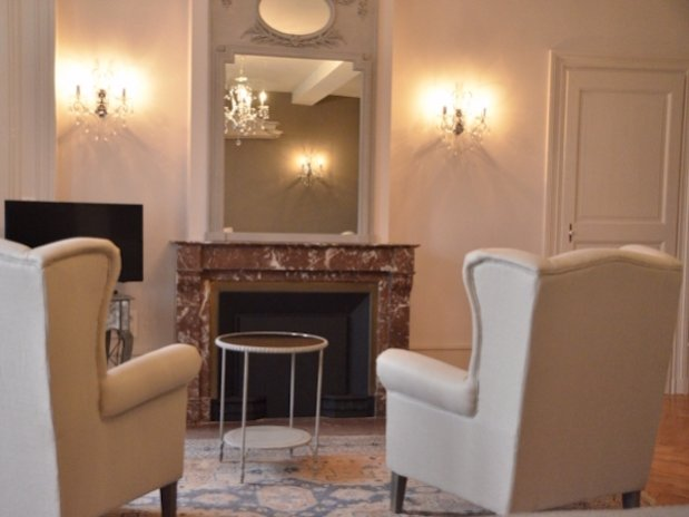 Livingroom Suite du Parc Château Changy B&B Loire