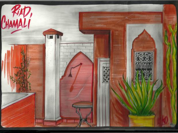 dessin de la terrasse