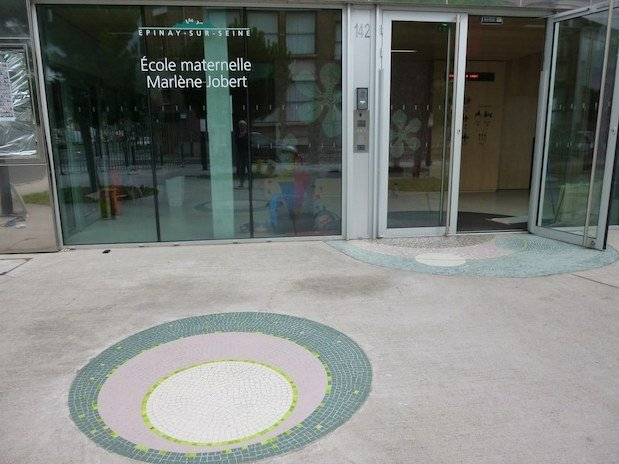 atelier mosaique sol piscine Paris