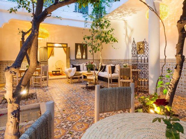 le patio aux orangers  riad chamali médina marrakech maroc