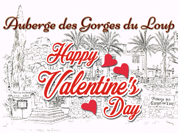 Valentine's Day at the Auberge des Gorges du Loup