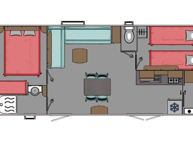 Plan du mobil-home 4 places