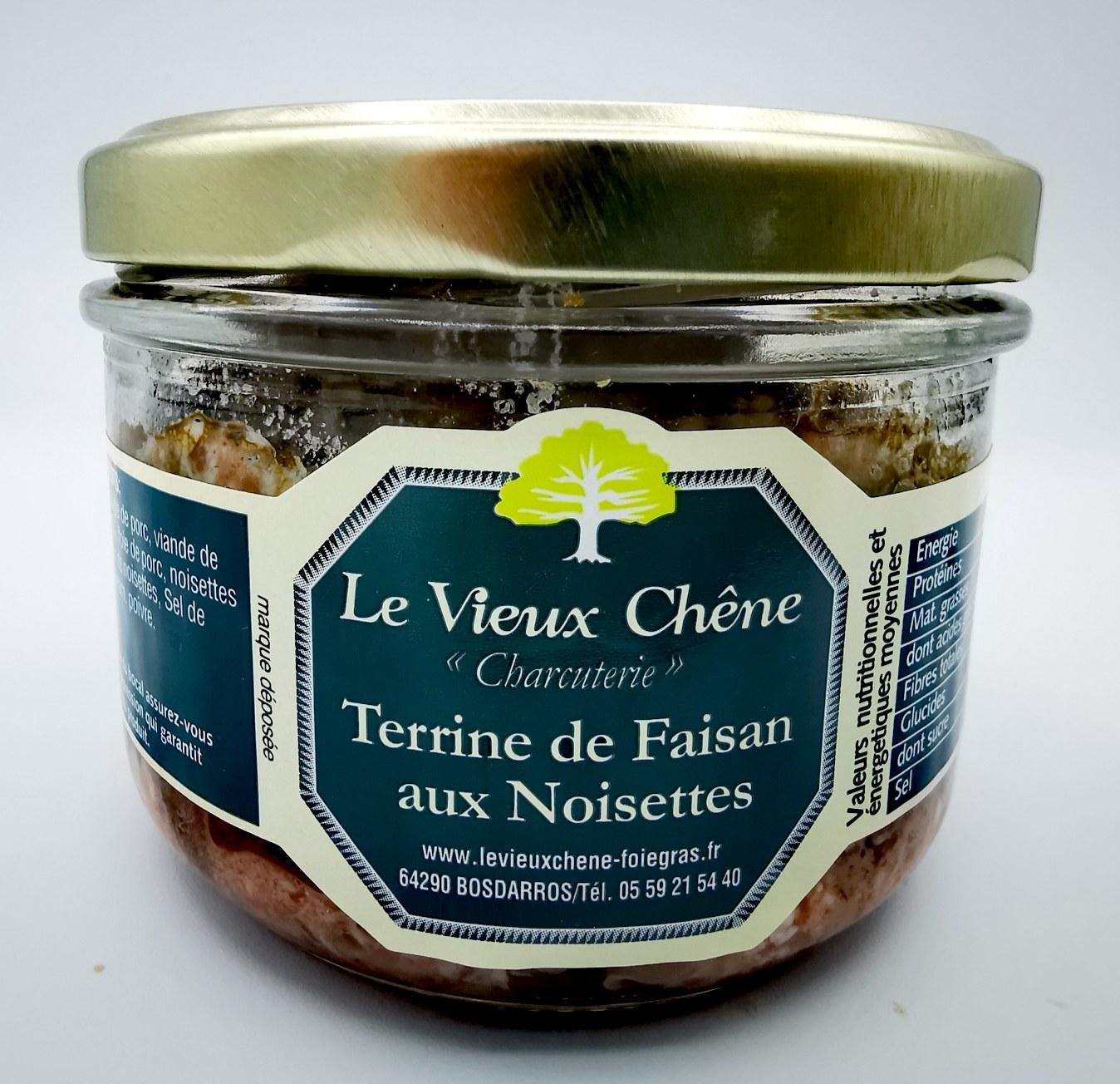Terrine de Faisan aux Noisettes - le vieux chêne - charcuterie - vallée d'aspe - local