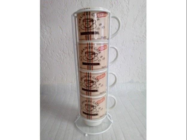 """Set de 4-mugs-avec-colonne """"Arabica"""""""