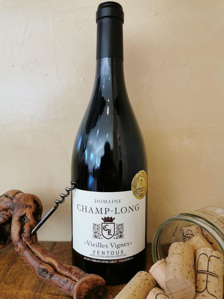 Vin rouge Domaine Champ-Long, Vieilles vignes, côtes du ventoux, Entrechaux