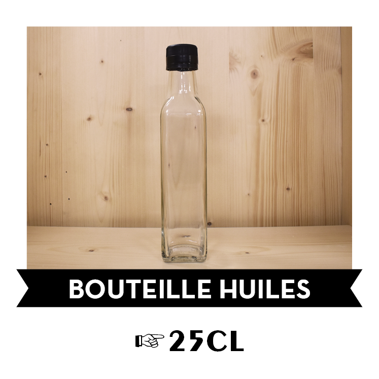 [G25] Bouteille verre huiles 25cL