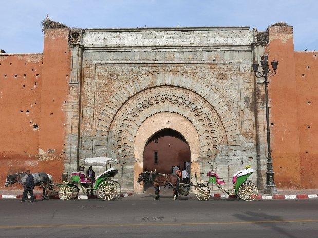 Porte bab agnoua - marrakech - maroc