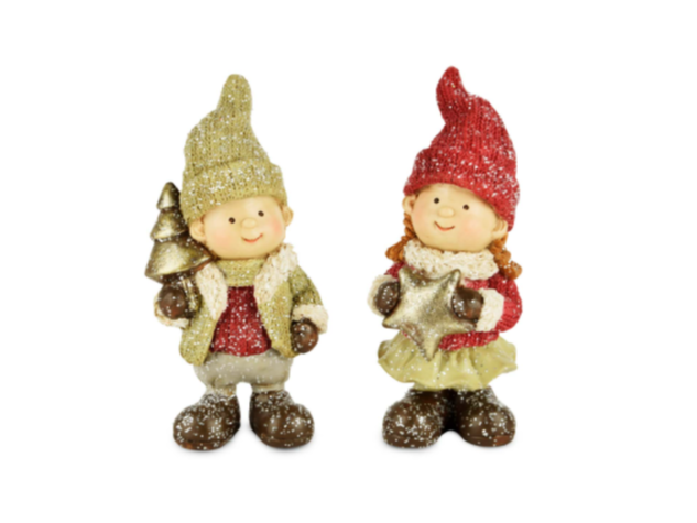 lutin de Noël garçon et fille Merveilles et Compagnie