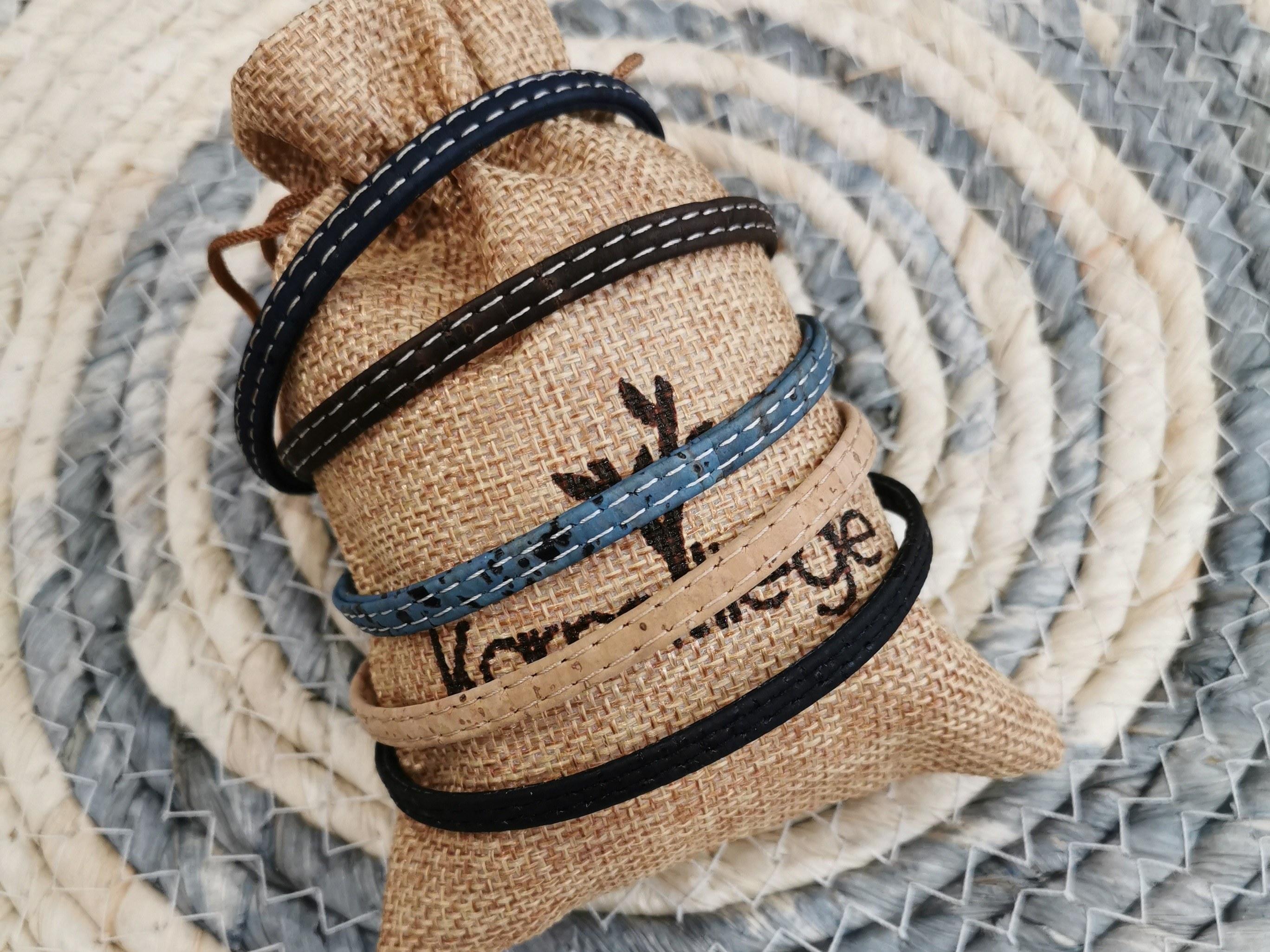 bracelet en liège unisexe couleurs d'hélène