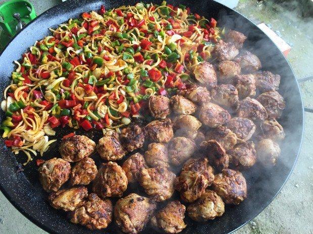 poulet et ses légumes