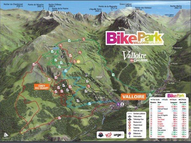 Plan du Bike Park