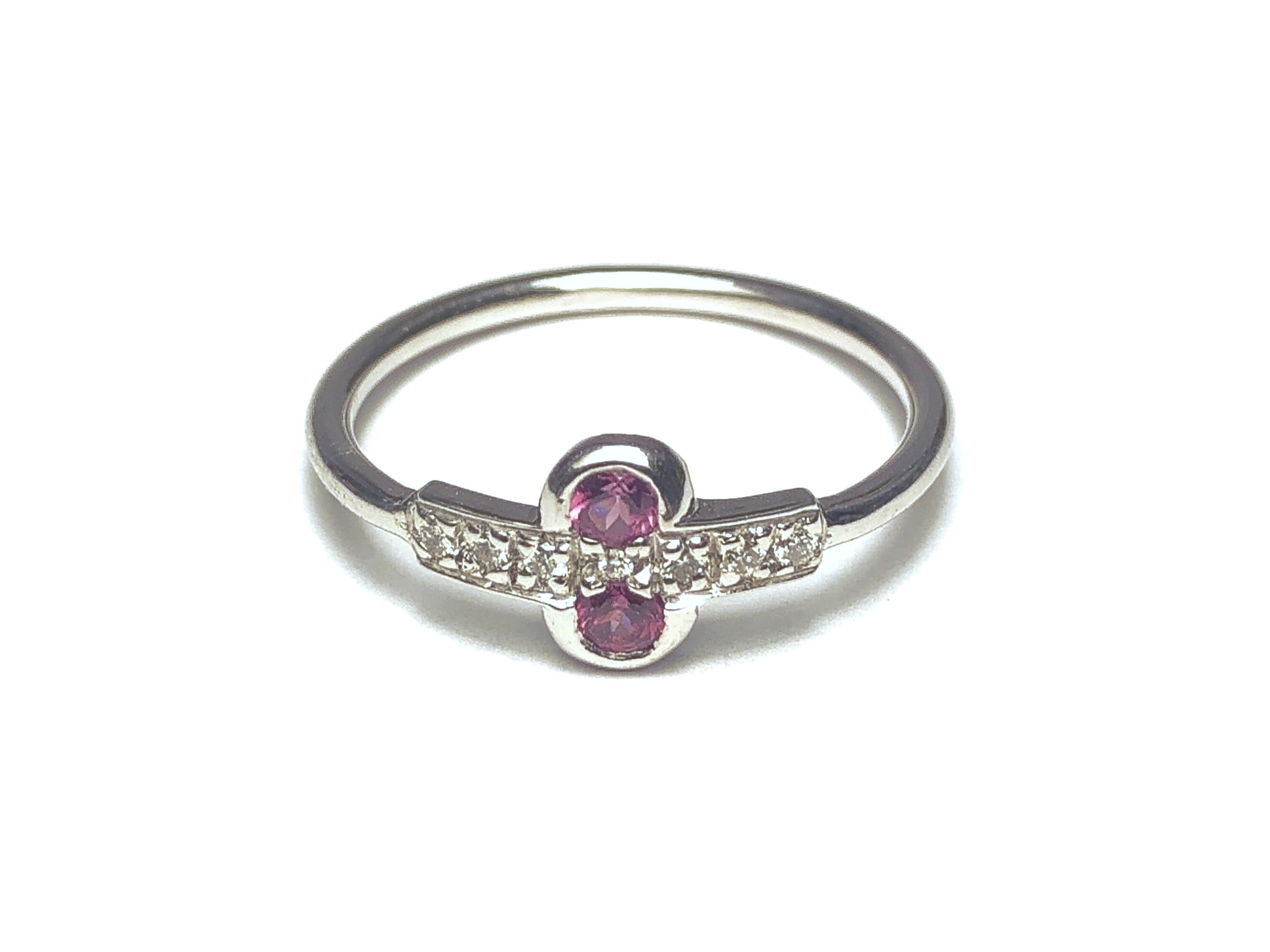 Manjo Bague Or Grenat Rhodolite