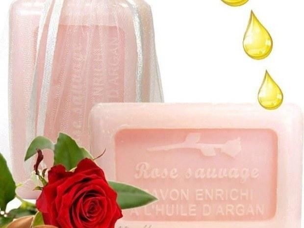 savon naturel huile d'argan et rose sauvge - les trésors de Valérie - Moselle