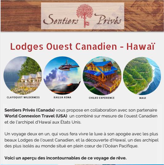 Hawaï Lodges ouest