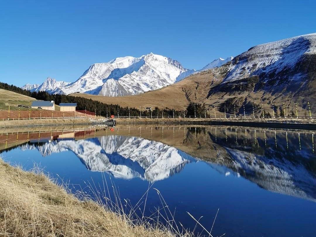 mont blanc et lac