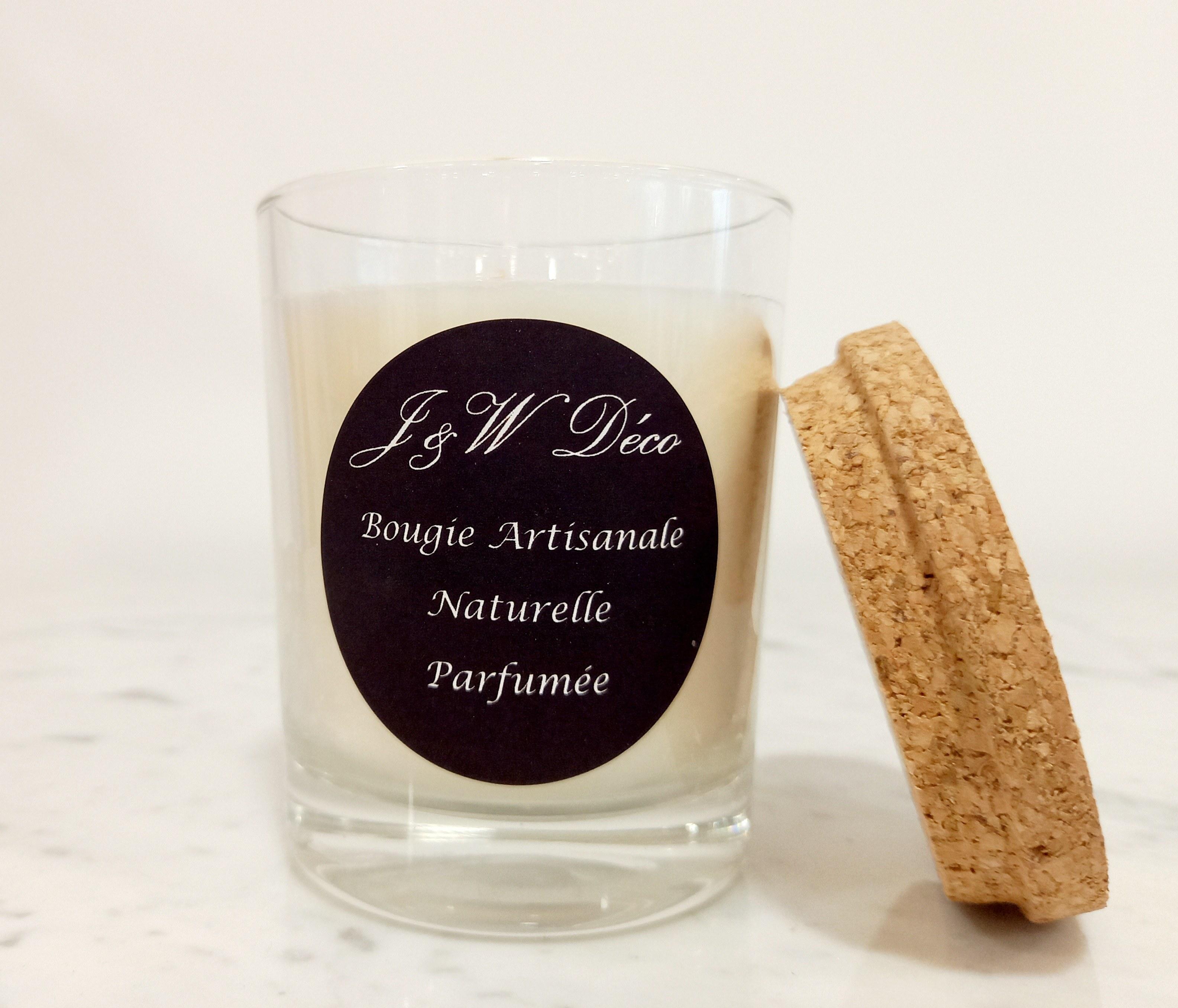 Bougies artisanales 130g couvercle liège2