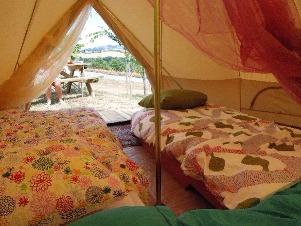 camping Le Clapas chalet Sahara, Berbertentr