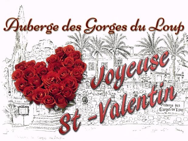 La Saint Valentin à l'Auberge des Gorges du Loup