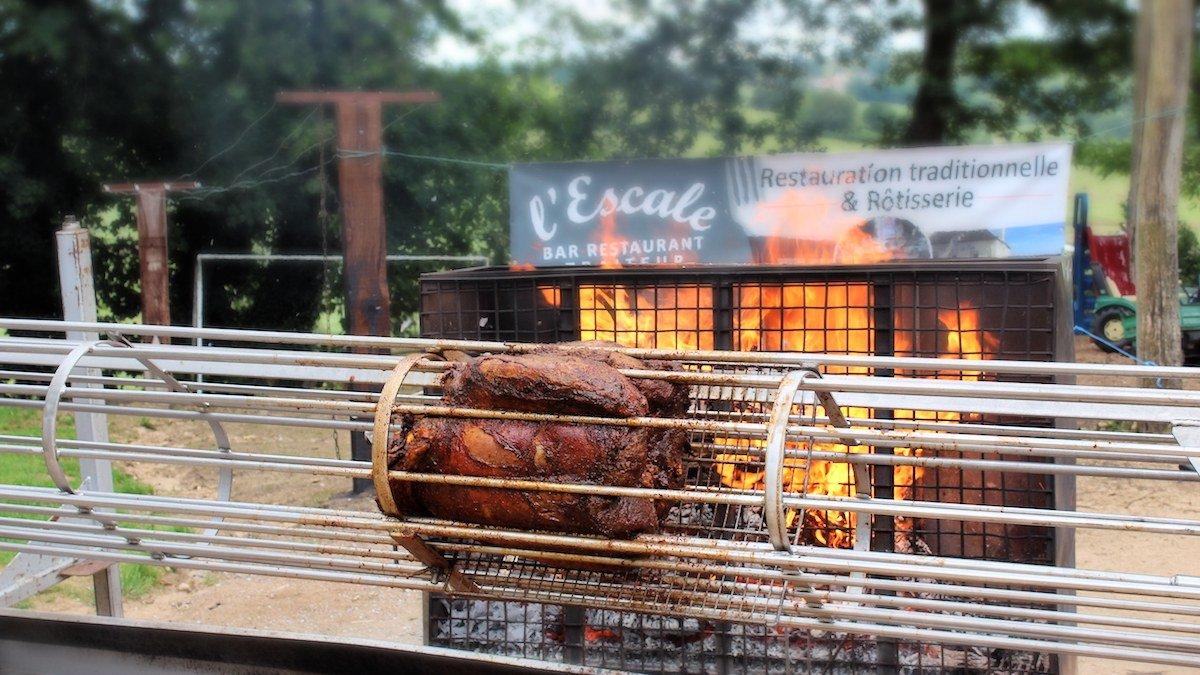 viande broche festival foire manifestation Saône-et-Loire traiteur l-escale
