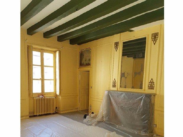 projet s jour avec moulures r alisations artisan peintre d corateur nantes de la vie couleur. Black Bedroom Furniture Sets. Home Design Ideas