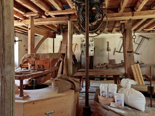 paquets de farine du moulin
