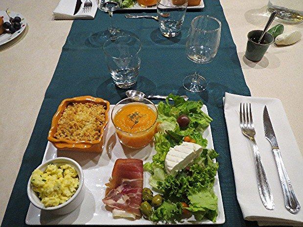 Assiette repas Les Hauts Issensac