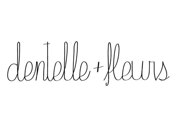 dentelle + fleurs