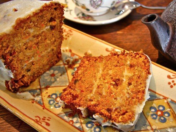 Cuq en Terrasses restaurant gourmand carrot cake