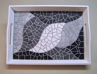 Objets mosaique cadres miroirs art'zaic bannalec finistere sud bretagne